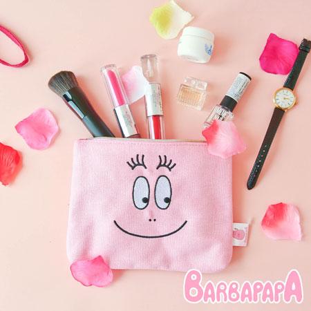 正版泡泡先生大臉帆布化妝包帆布化妝包收納包收納袋Barbapapa