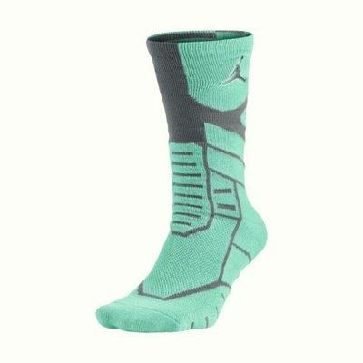 NIKE JORDAN JUMPMAN FLIGHT CREW襪子中筒籃球綠黑運動世界642210-391