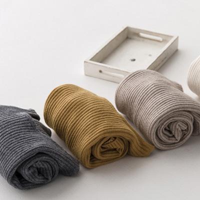 SINGLE單眼皮女孩 韓KOREA 時尚優雅直羅紋設計風保暖混紡兔絨長袖圓領毛衣