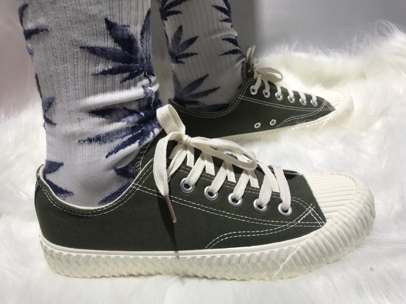 X-INGCHI. 男餅乾頭布鞋 綠 NO. X0023