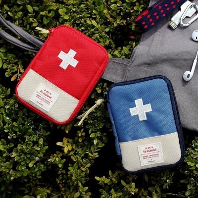 韓版旅行醫藥收納包L隨身急救包衛生棉包衛生紙包隨身藥盒藥包歐妮小舖