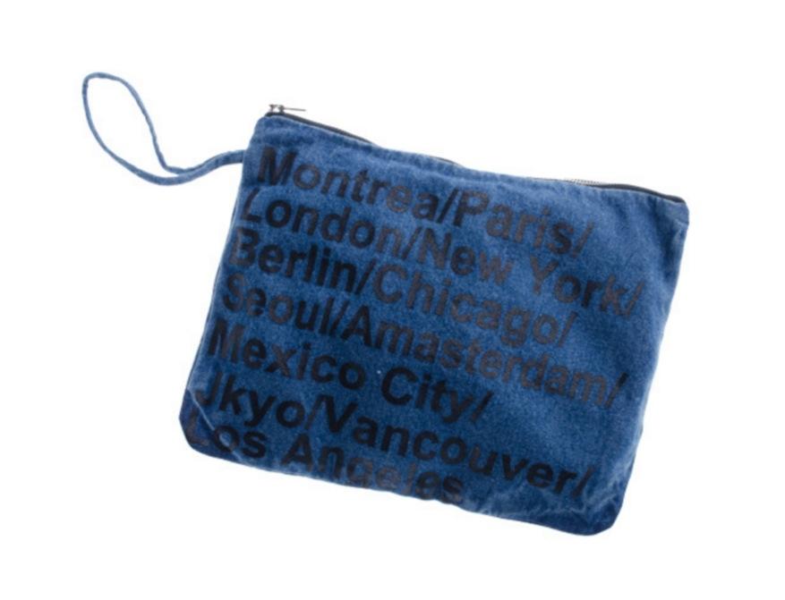 Denim bag熱銷歐美高級牛仔布料旅行收納包牛仔包丹寧包化妝包牛仔手機平板電腦包