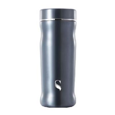等一個人咖啡真空雙層內陶瓷保溫杯300ml-曲線藍