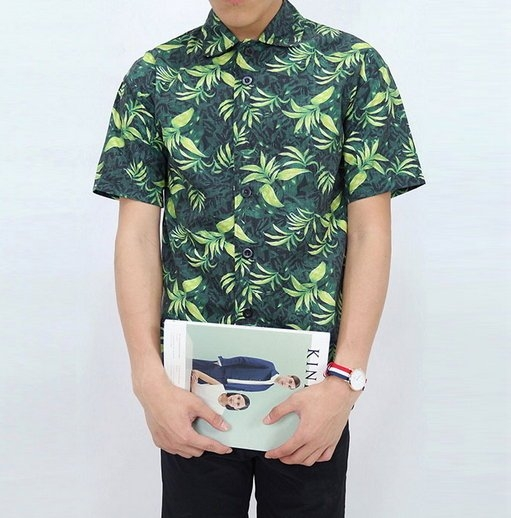 找到自己夏季花襯衫花外套碎花襯衫花襯衫男超殺優惠特惠中國際叢林