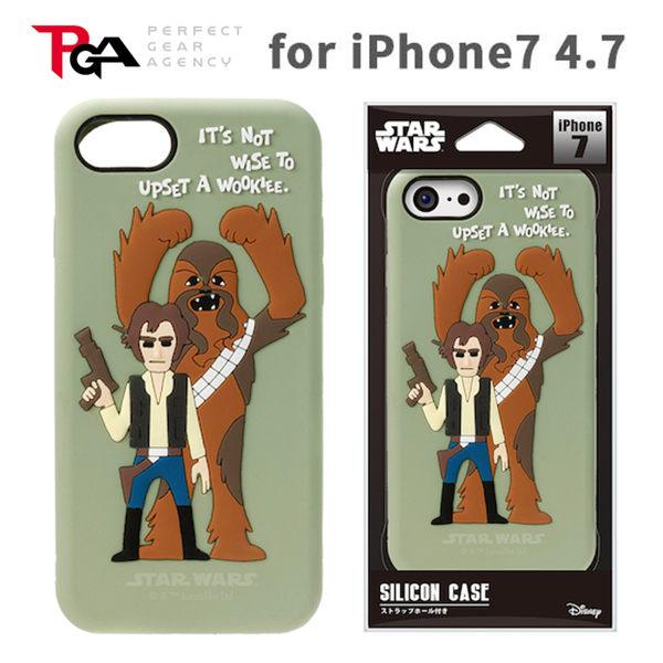 漢博iPhone7 6S 4.7吋iJacket Star Wars星際大戰矽膠立體保護軟殼韓索隆丘巴