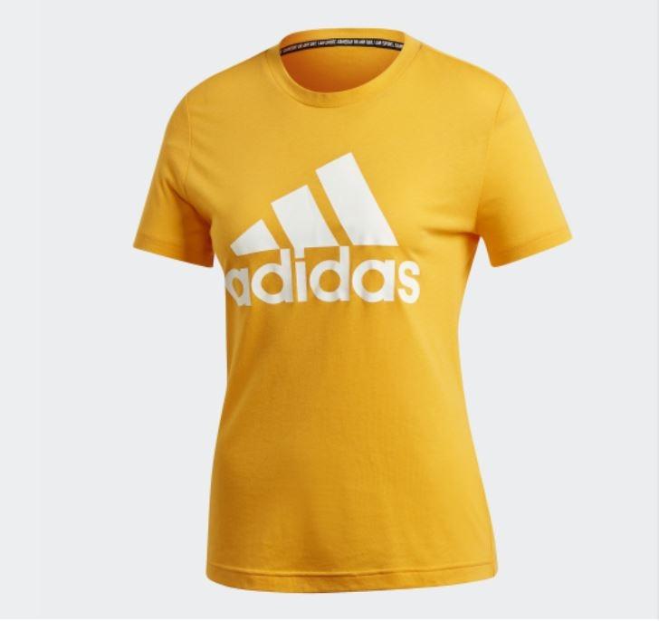 Adidas W MH BOS TEE 女款黃色短袖上衣-NO.EB3794