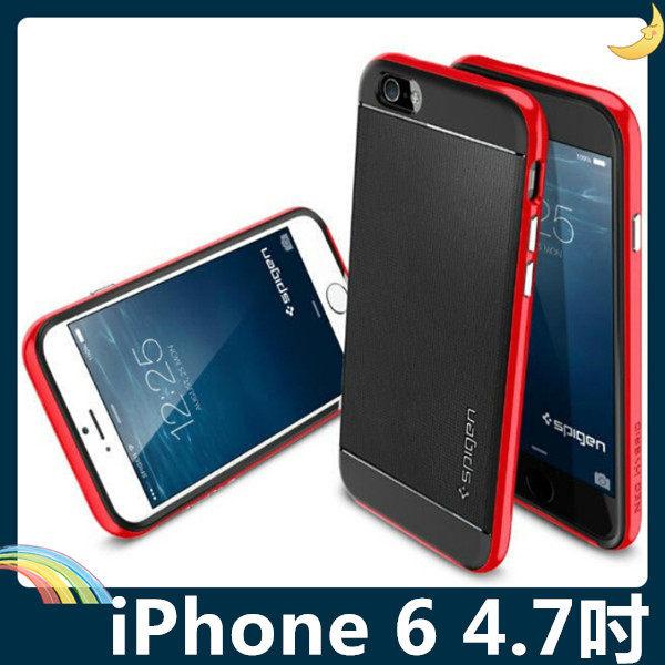 iPhone 6 6s 4.7吋類金屬PC邊框矽膠保護套軟殼SP二合一組合款糖果色全包款手機套手機殼