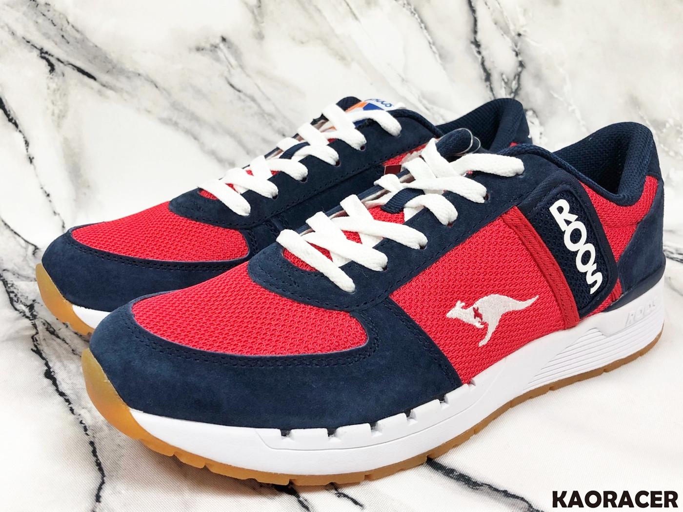 KangaROOS 男款紅藍色運動休閒鞋-NO.KM91032