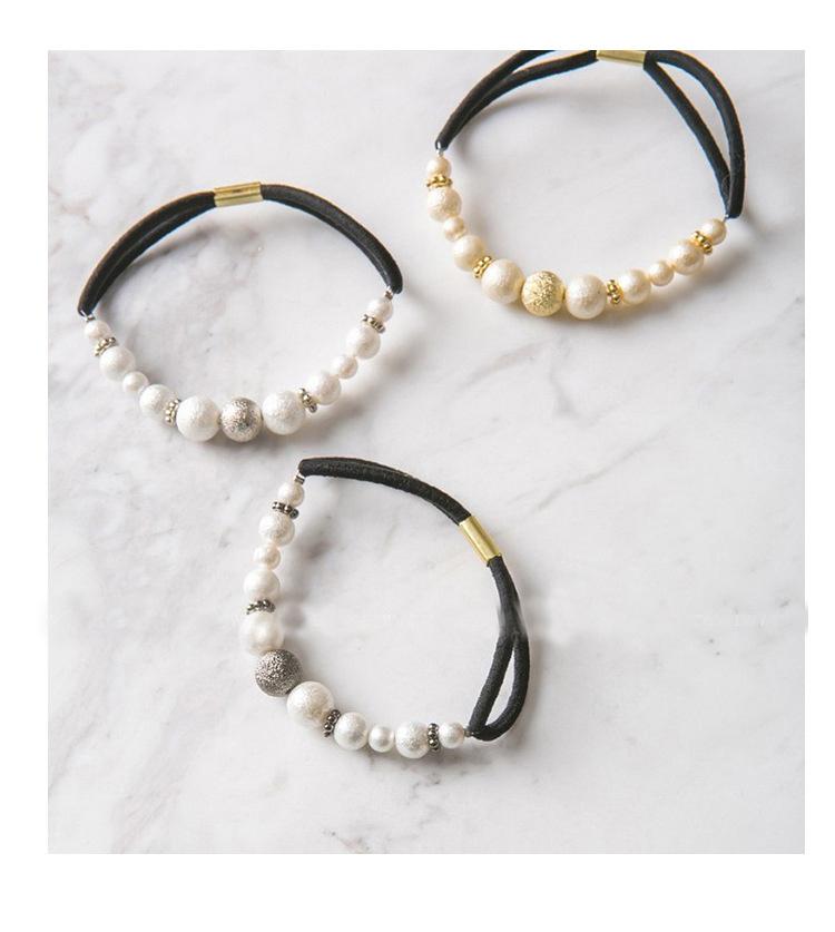 簡約珍珠串珠彈力髮繩