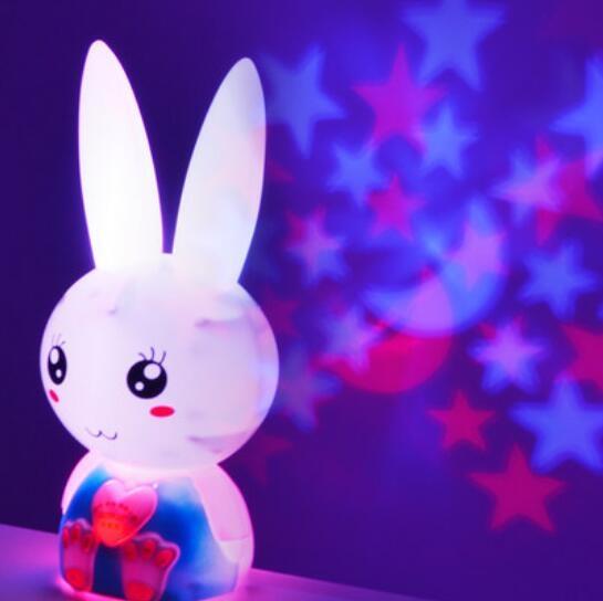 小白兔子藍牙投影兒童早教機故事機
