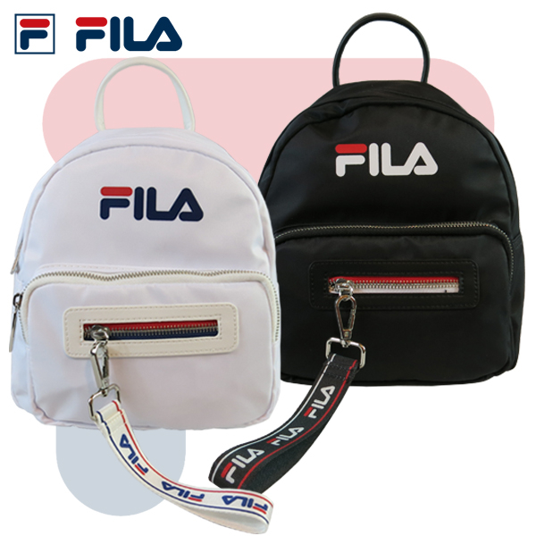 FILA 後背包 LOGO 經典款 3way 可側背 手提 後背 雙肩包 飄帶 鑰匙圈 BPT-9003 得意時袋