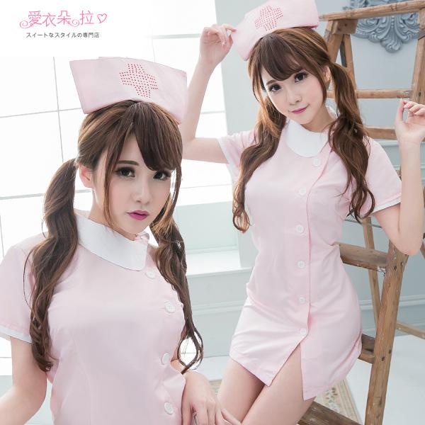 護士服 SML 氣質側扣式連身裙 角色扮演制服 愛衣朵拉