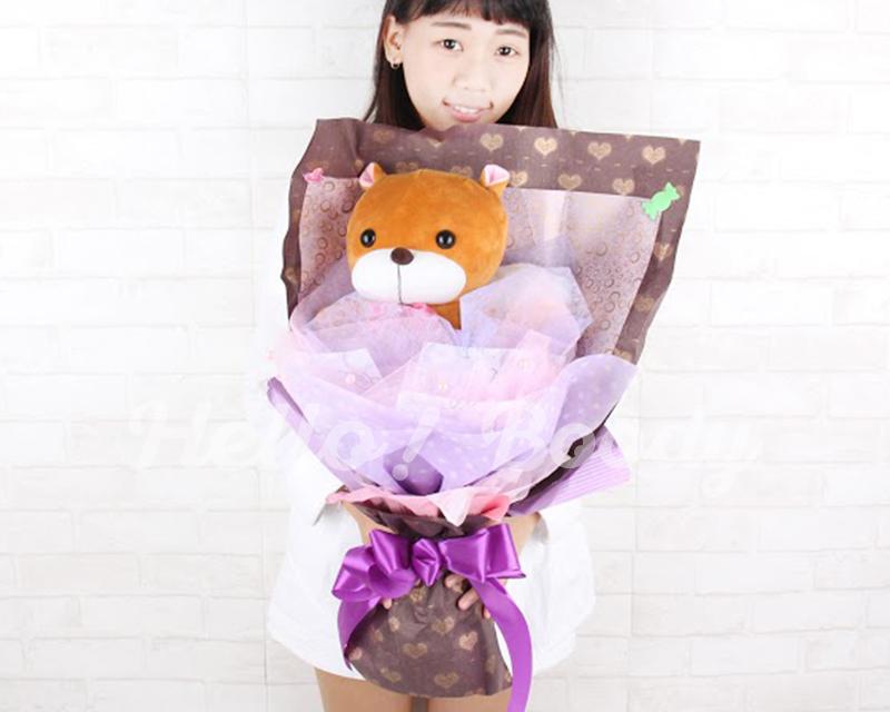 Hello Boody︎︎正版商品可愛松鼠娃娃花束動物松鼠絨毛娃娃松鼠娃娃花束