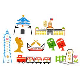 收藏天地台灣紀念品貼紙備件包-中正紀念堂
