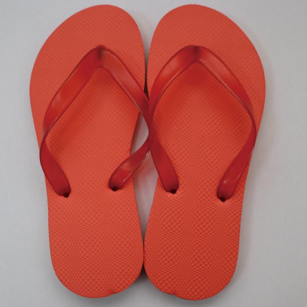 EVA素色人字拖鞋 女款-橙|台製海灘拖 台灣製 人字拖 沙灘拖 夾腳拖 拖鞋 室內室外 兩用