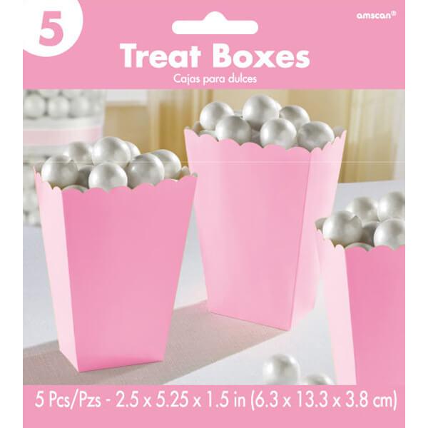 5.25吋爆米花盒5入-甜心粉
