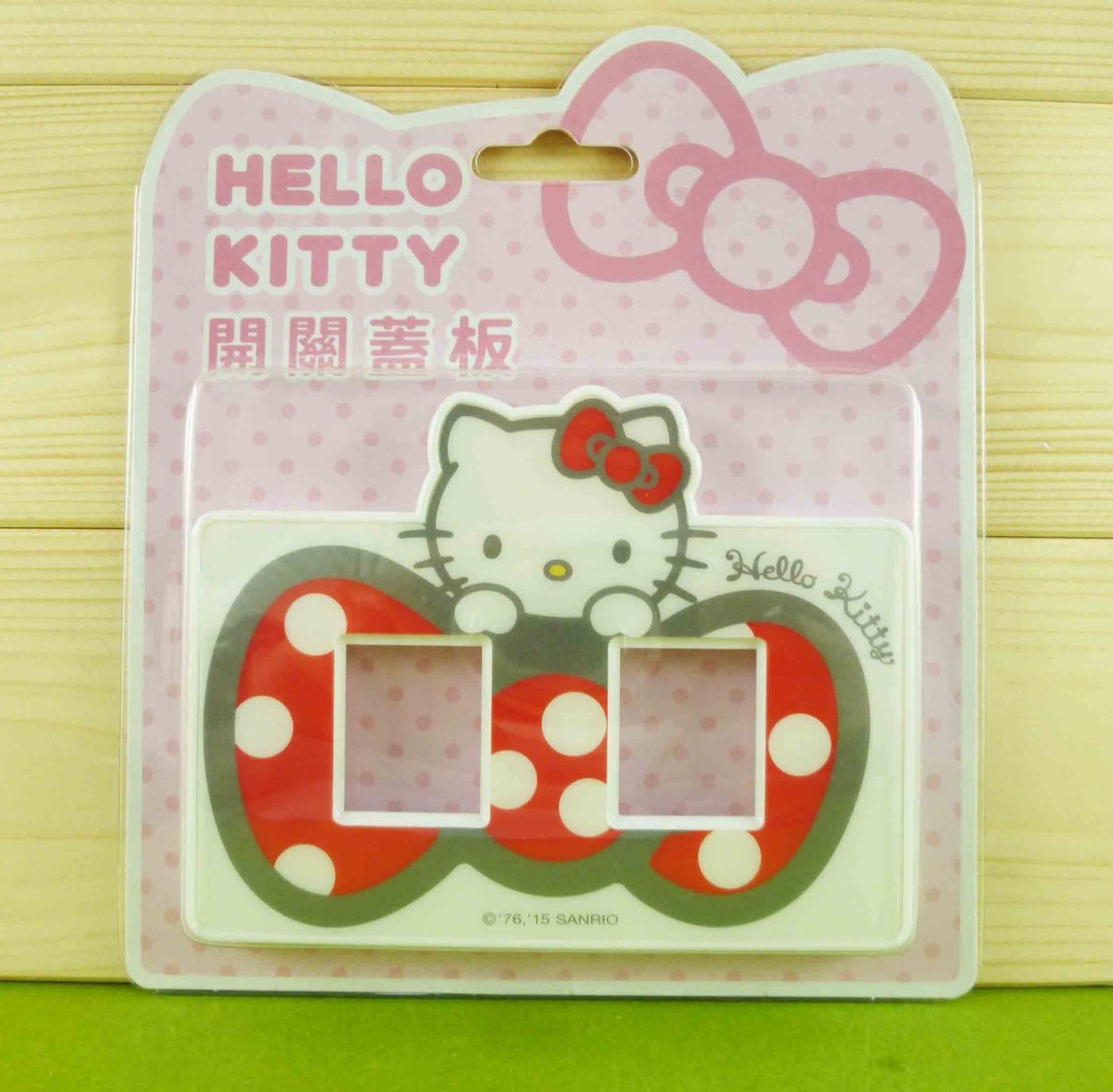 【震撼精品百貨】Hello Kitty 凱蒂貓~開關蓋面板-兩孔-紅色蝴蝶結【共1款】