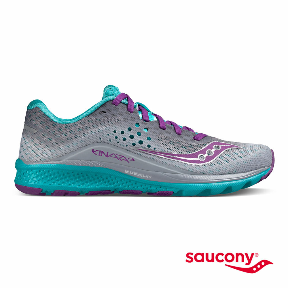 SAUCONY KINVARA 8專業訓練鞋款-灰X藍X紫