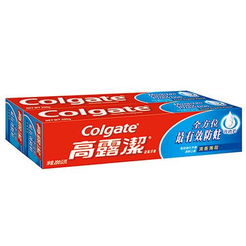 高露潔美氟寶牙膏-清香薄荷200g*2入【愛買】