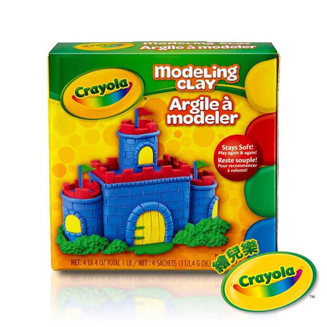 美國Crayola繪兒樂 造型黏土經典色4色