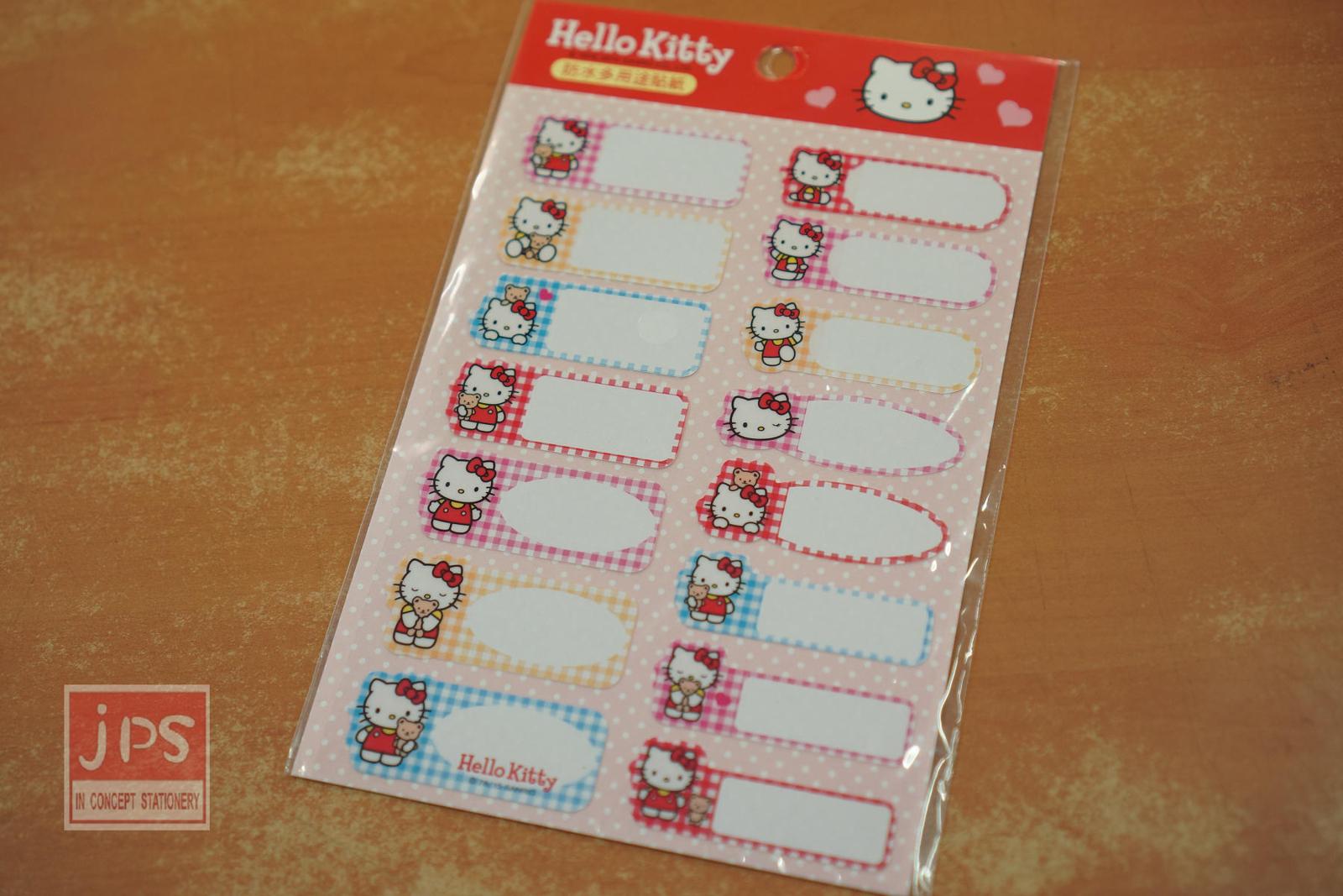 Hello Kitty 防水 多用途貼紙 愛心