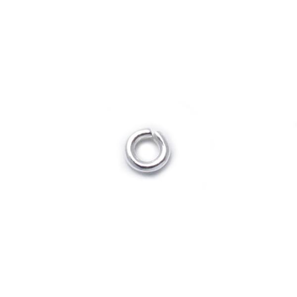 925純銀配件-2.5mm開口圈/C圈/跳環-100個