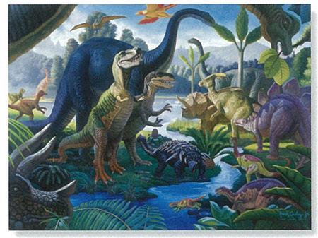 Ravensburger維寶100片拼圖-遠古恐龍