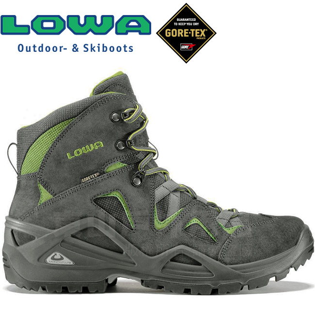 Lowa 310550-9742深灰綠男Gore-Tex中筒多功能登山鞋Zephyr Mid GTX防水健行鞋軍用靴軍靴