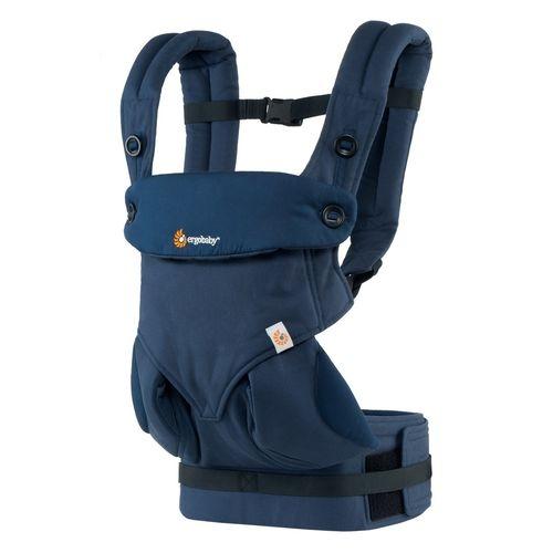 美國Ergobaby 360度四向寶寶揹巾背巾背帶-午夜藍色2年保固衛立兒生活館