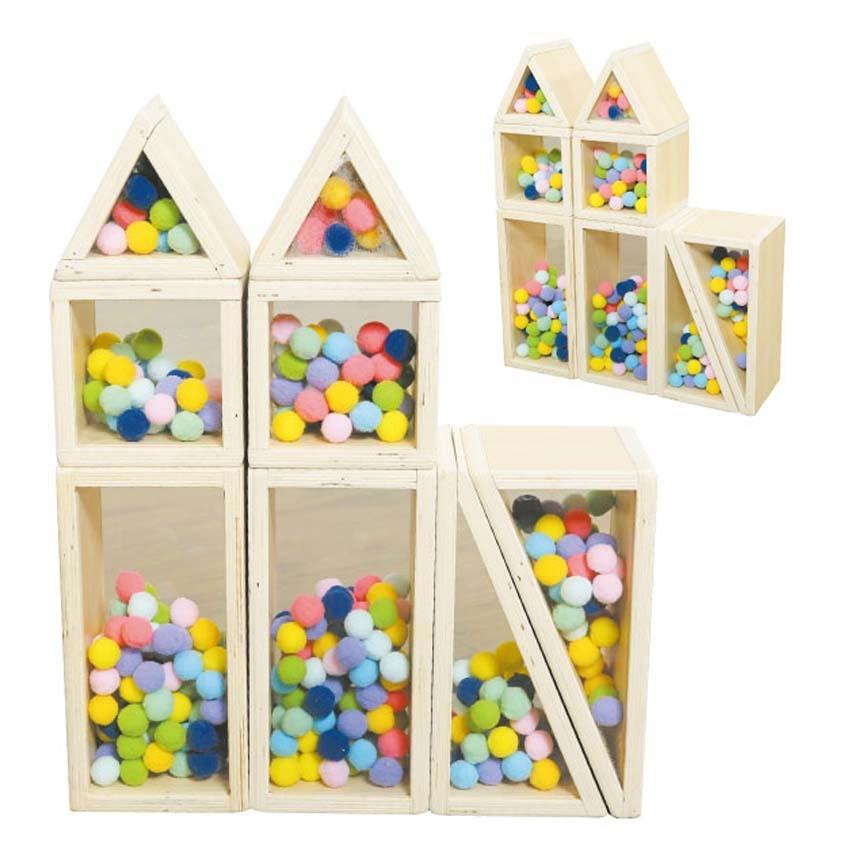 彩球積木組華森葳兒童幼兒教具玩具道具遊戲社會扮演想像創造建構造型組裝積木城市模型