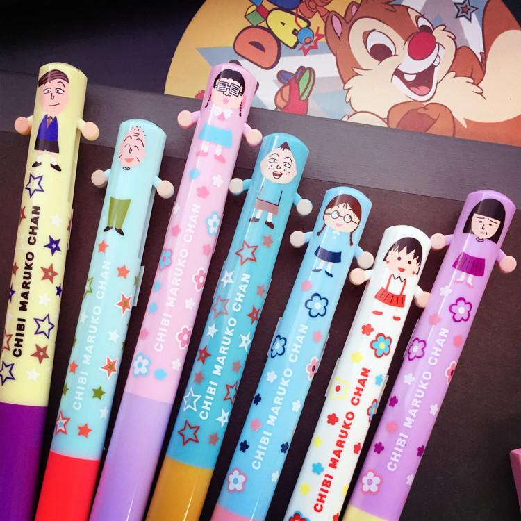 PGS7日本卡通系列商品櫻桃小丸子Maruko雙色原子筆造型筆友藏野口小玉小丸子SHJ6403