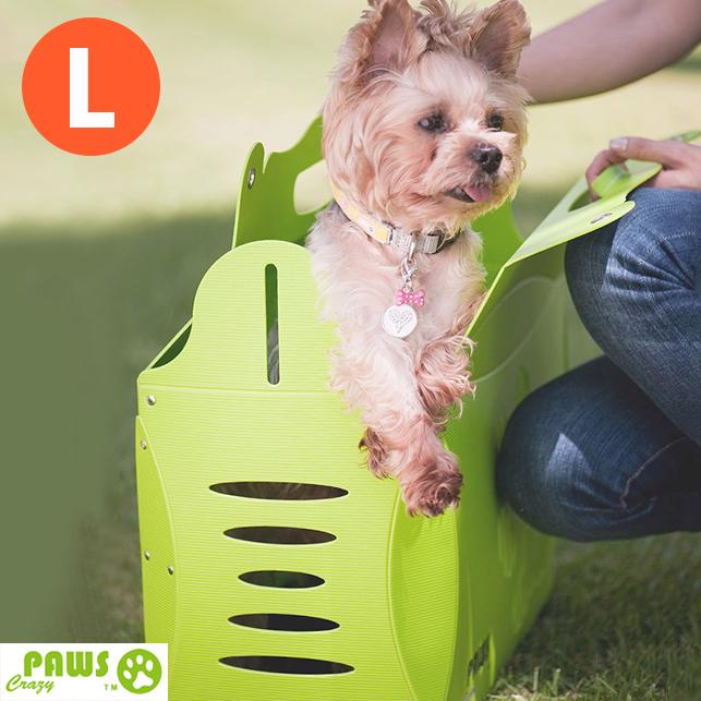 外出籠貓狗外出提袋外出包寵物包瘋狂爪子V1伊西歐寵物提箱-L號生活美學