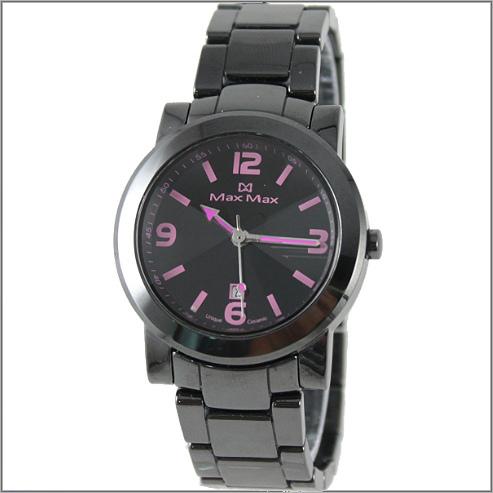 【萬年鐘錶】Max 數字黑陶瓷錶 MAS-5080-B1