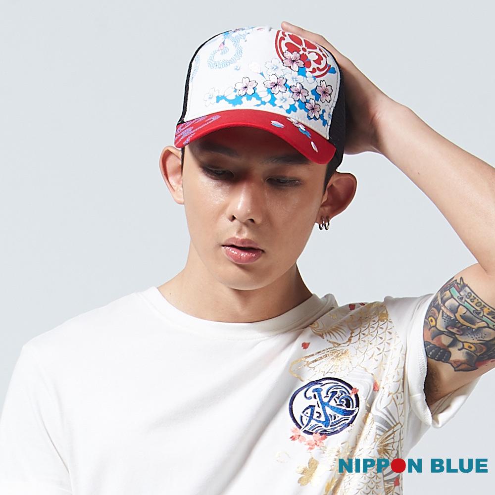 【2017春季新品】櫻花紫外線變色網帽(紅 白) - BLUE WAY 日本藍