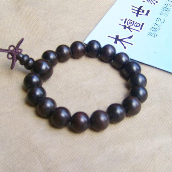 千年烏木陰沉木佛珠精磨拋光1.2厘米手珠