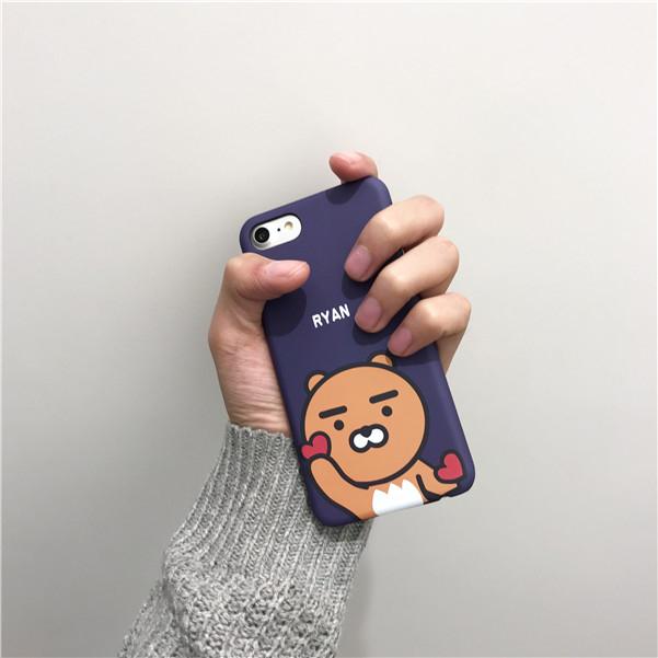 iPhone手機殼  韓國好有愛的Ryan 磨砂硬殼 蘋果iPhone7/iPhone6 手機殼