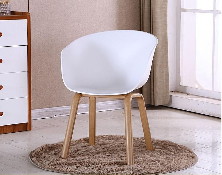南洋風休閒傢俱造型單椅系列-PP塑料椅伊姆斯扶手餐椅洽談餐椅咖啡廳餐椅會議椅