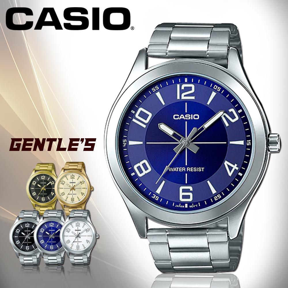 CASIO手錶專賣店CASIO手錶MTP-VX01D-2B男錶指針錶不鏽鋼錶帶防水礦物玻璃