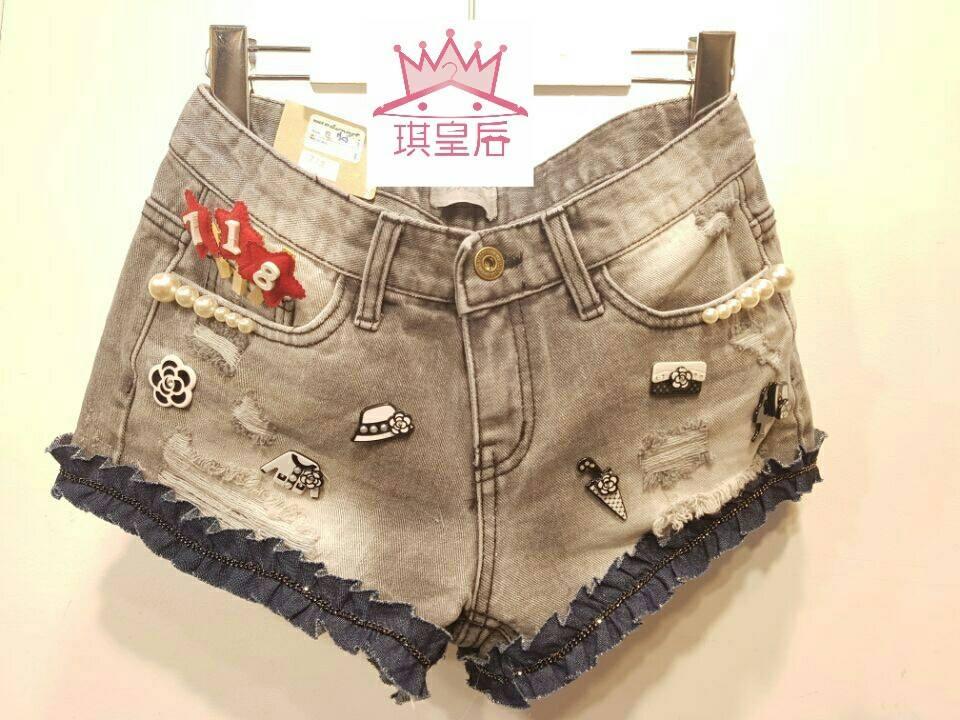 韓國手工款小香風米奇米老鼠米妮唐老鴨迪士尼卡通牛仔褲牛仔外套連身裙新款預購
