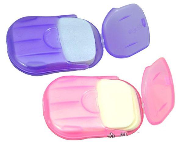2入裝 旅遊方便攜帶 洗手香皂片.紙香皂.肥皂紙 隨機出貨~4G手機