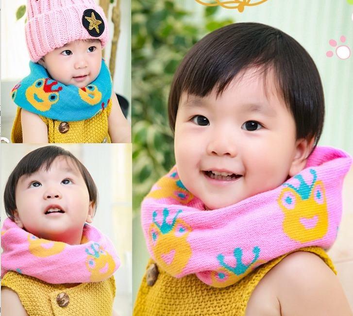 預購秋冬新款六色青蛙王子兒童圍脖寶寶保暖脖套