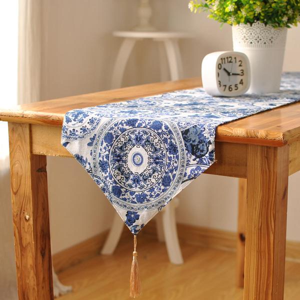 時尚可愛空間餐桌布 茶几布 隔熱墊 鍋墊 杯墊 餐桌巾桌旗117 (30*140cm)