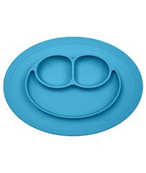 iae創百市集 美國EZPZ矽膠幼兒餐具 Happy Mat快樂防滑餐盤- 寶石藍(迷你版)