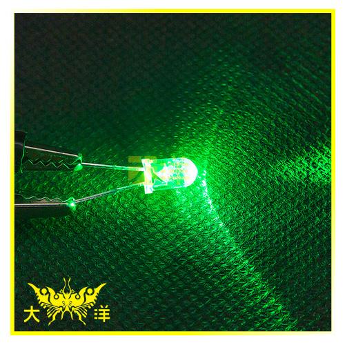 ◤大洋國際電子◢ 5mm透明殼 綠光 高亮度LED (100PCS入) 0627-G-A 二極管 LED