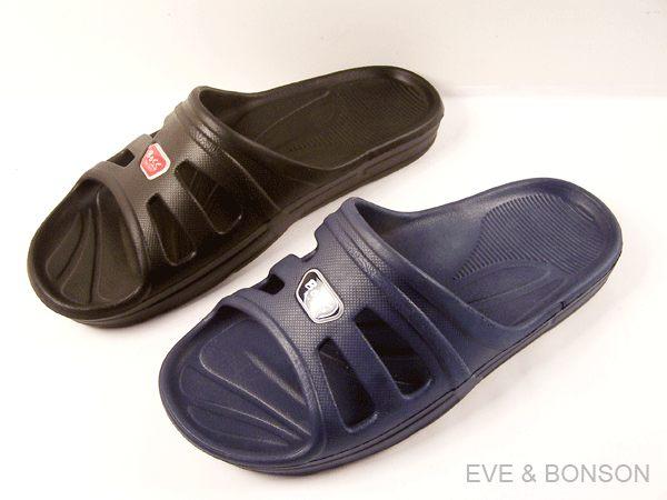『雙惠鞋櫃』 ◆TWO BOSS極簡風超輕素面男拖鞋◆台灣製造 (270AB) 黑、藍