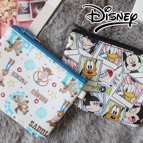 迪士尼Disney米老鼠小熊維尼美人魚愛麗絲瑪麗貓玩具總動員票夾零錢包