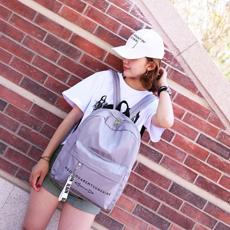 女士雙肩包 女生書包 女款旅行包 女士後背包 2017年新款韓版校園原宿ulzzang簡約森系潮背包
