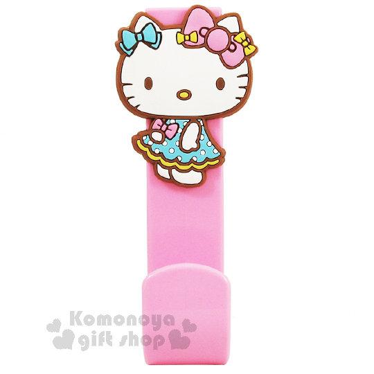 〔小禮堂〕Hello Kitty 造型門板掛勾《粉.裙裝.側站.泡殼》耐重3kg 8021780-05862