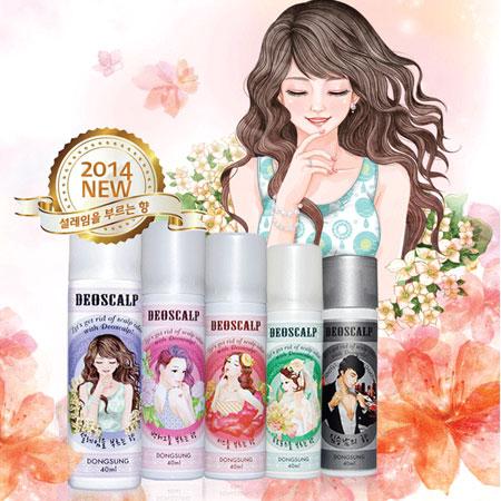 韓國DEOSCALP多功能甜心芳香噴霧40ml香水乾洗髮髮香水體香噴霧體香劑