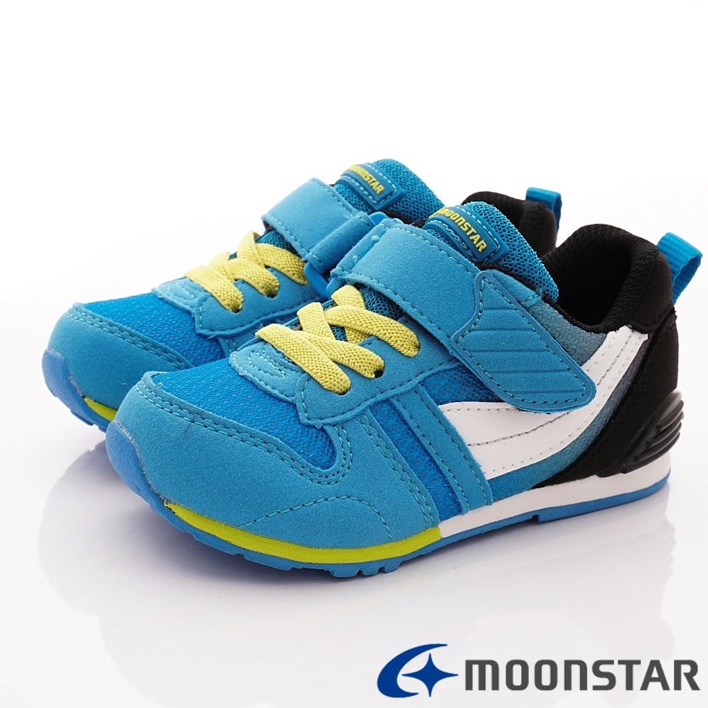 日本Moonstar機能童鞋 HI系列2E機能款 2121G5藍(中小童段)